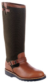 "Men's Chippewa 23913 17"" Brown Leather/Cordura Snake Boot"