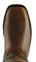 "LaCrosse Men's 17"" Snake Country Hot Olive Snake Boot - 521172 Toe View"