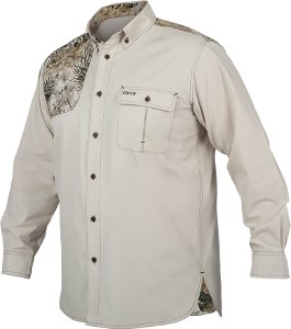 GameGuard Competition Shooters Shirt Long Sleeve Stone/Camo  WL1300/1202