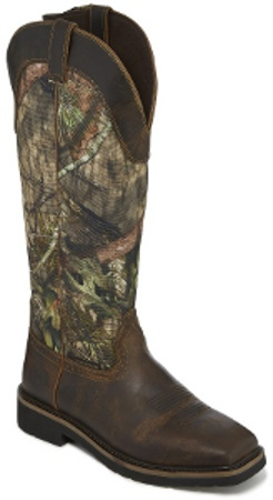 "Justin Men's 17"" Snake Boot WK4555 Shrublands Square Toe boot from the Stampede™ Collection"