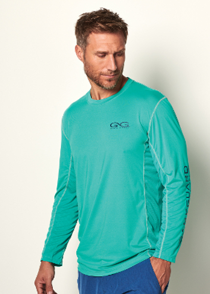 Men's Game Guard Caribbean Longsleeve Performance Tee - 1028LCRB